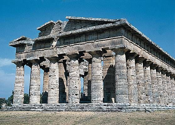Paestum, le temple de Poséidon