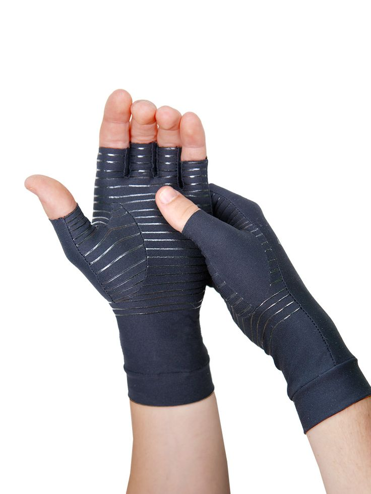 Tommie Copper's comfortable fingerless compression gloves help relieve arthritis and other chronic joint and muscular pain/ CHRONIC PAIN SUFFERERS TIP OF THE DAY:.  For those with horrible arthritis pain in your hands, fingers and joints of them, get you a good ceramic coffee mug. Cup in your hands and hold as tolerated while you are having your coffee.  Myhelpfulhints