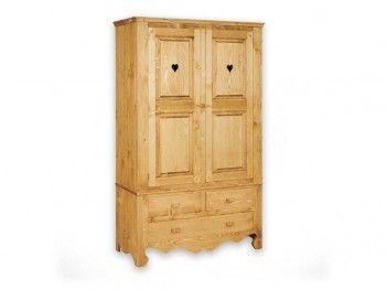 Dvoudveřová skříň ze smrkového dřeva Mexicana 2