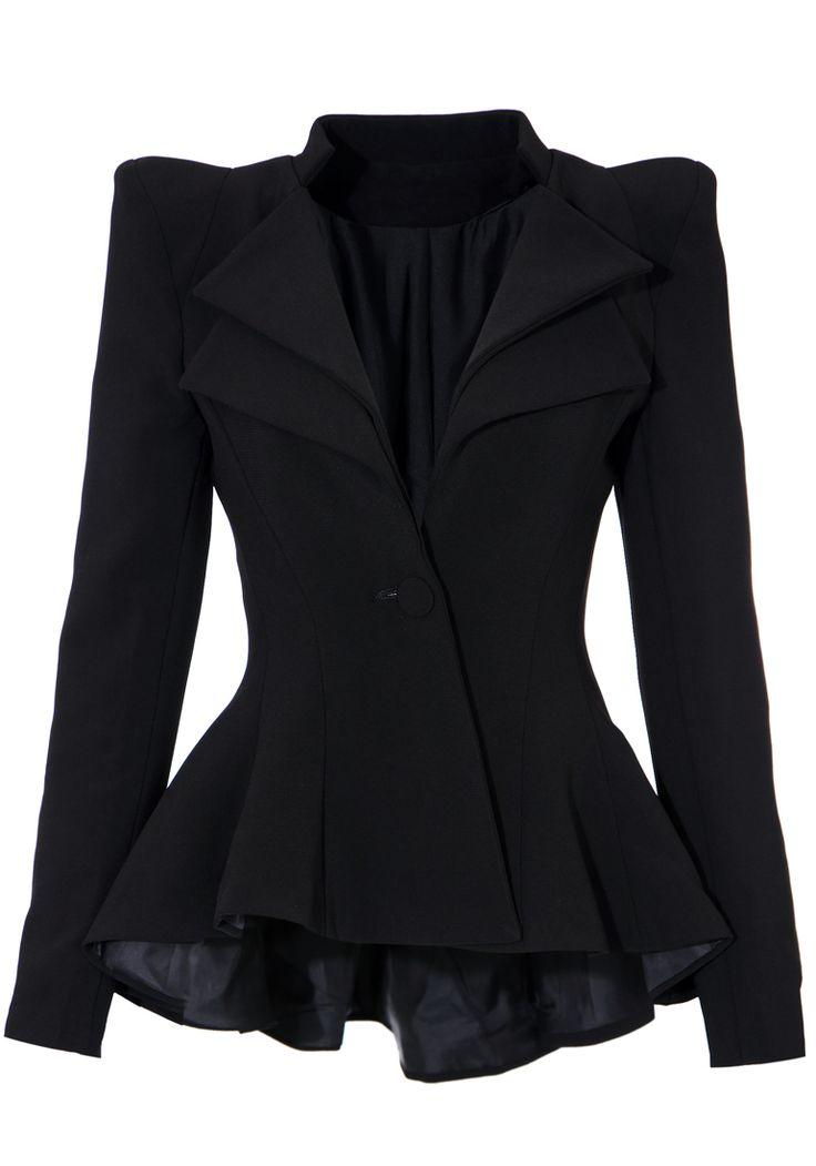 Best 20  Peplum jacket ideas on Pinterest | Peplum coat, Black ...