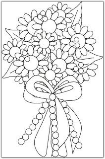flower bouquet coloring pages flower bouquet coloring pages