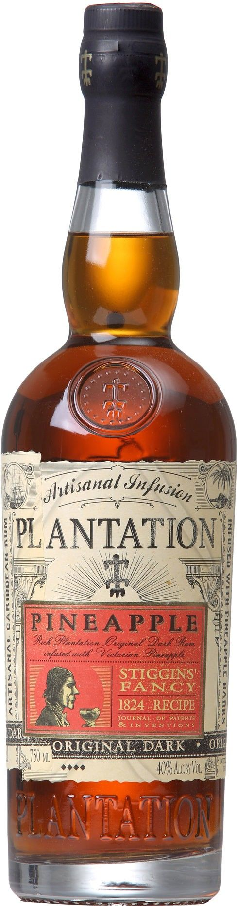 With a nod to Charles Dickens, this rum is made by steeping the flesh of real Queen Victoria pineapples in aged rum. Plantation Stiggins' Fancy Dark Pineapple Rum | @Caskers