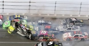 Talladega delivers another vicious wreck, pitting driver safety vs. fans' wants