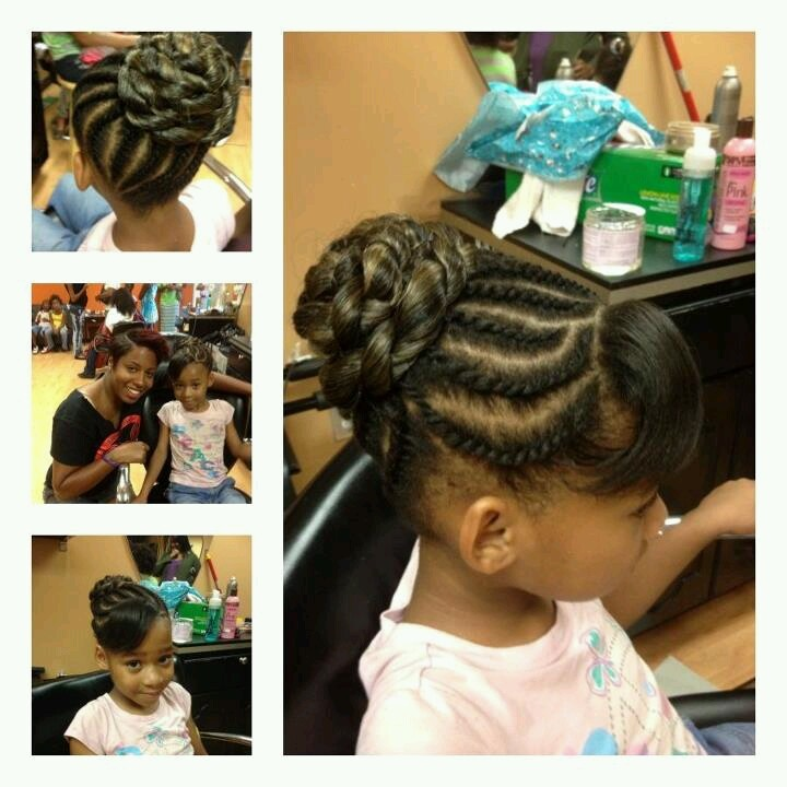 Awe Inspiring 1000 Images About Natural Kids Buns On Pinterest Hairstyles For Women Draintrainus