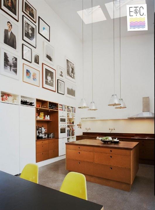 Best KITCHENS Images On Pinterest Kitchen Ideas Diy Kitchen - Breakfast nook wooden cabinets linear kitchen mixer tap yellow chairs