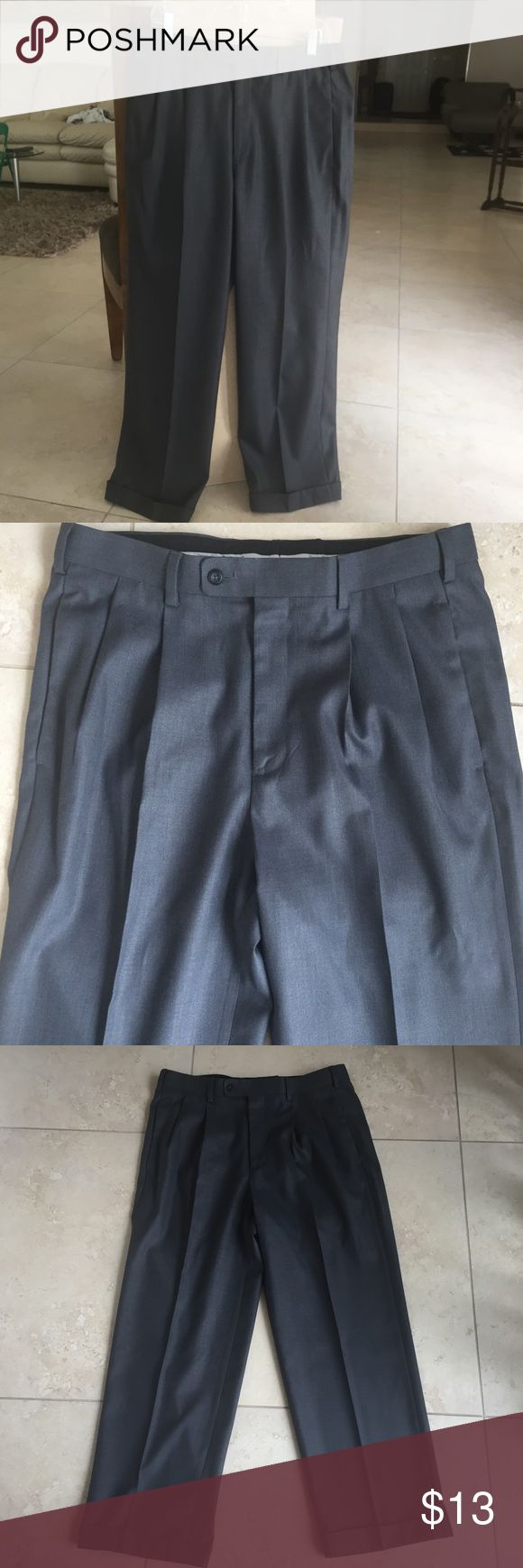 Perry Ellis 34/30 grey slacks pants Selling many items similar in size from my husbands closet and offer bundle discount on 3 or more so be sure to check out other listings of similar items you might like..... Perry Ellis slacks 34/30 condition no flaws and excellent condition worn once or twice recently dry-cleaned Perry Ellis Pants Dress