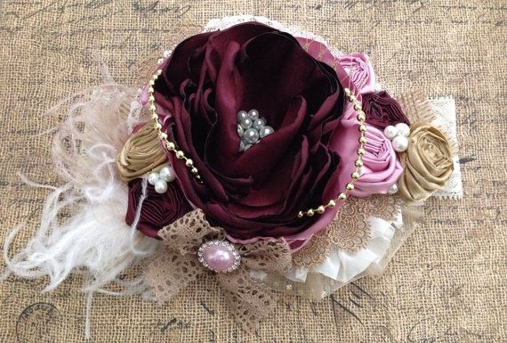 Sealed with a kiss over the top headband by ChloeRoseCouture