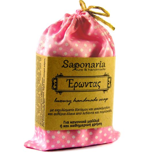 Erontas soap for normal hair or daily use. It is enriched with extracts of dittany and clary sage, and essential oils of lavender and orange.