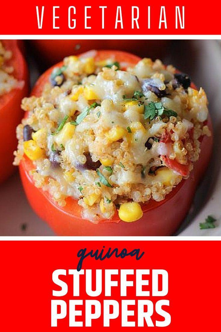 Quinoa Stuffed Peppers Recipe Gluten Free Vegetarian Wendy Polisi Recipe In 2020 Quinoa Recipes Easy Vegetarian Recipes Easy Dinner Quinoa Recipes Dinner