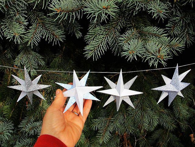 DIY Paper Holiday Stars by Maya*Made
