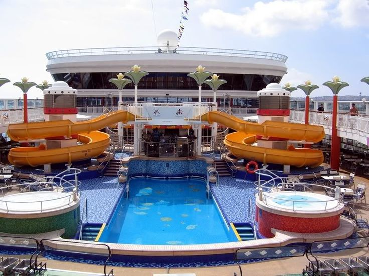 Carnival Pride Cruise Ship Food | Carnival Pride Pool Area