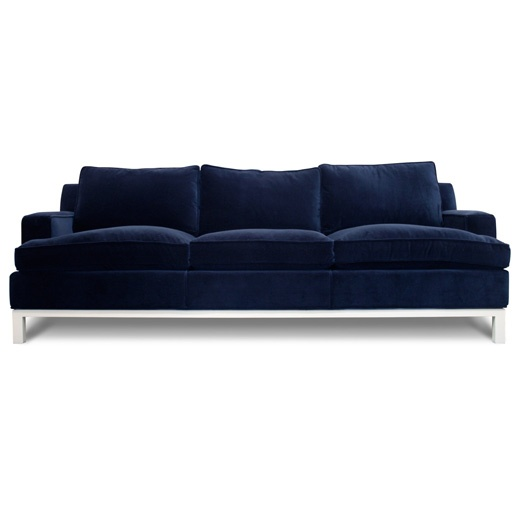 The Jonathan Adler Butterfield Sofa Dreamy Rich Color And Velvety Soft Looking Too Big