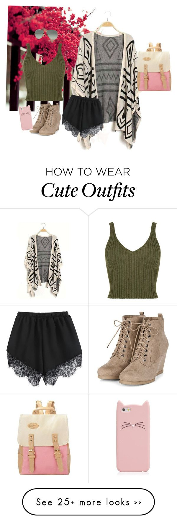 """It's an outfit and I'd wear it"" by velszoe on Polyvore featuring Ray-Ban and Kate Spade"