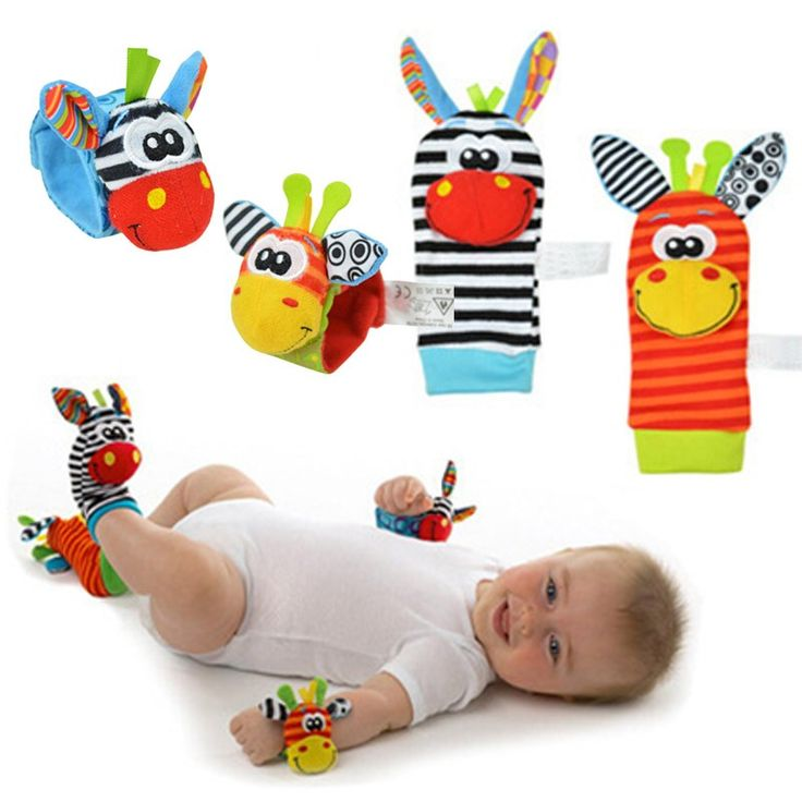 2pcs Hot Sale Newborn Baby Rattles Stuffed Toys Animal Socks Wrist Strap Education Toy For Toddlers Baby Socks meias //Price: €4.54 & FREE Shipping //   #fashion #baby #clothes #trendy #2017