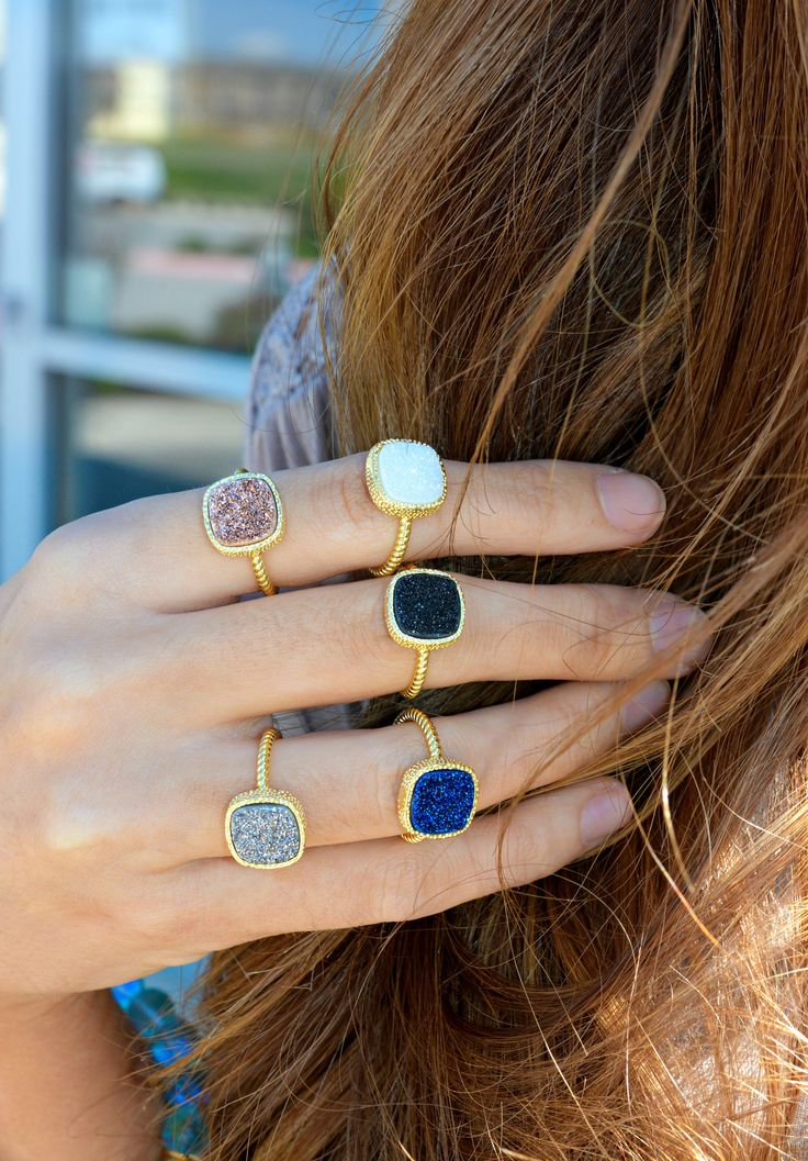 RING Me Later Druzy Ring
