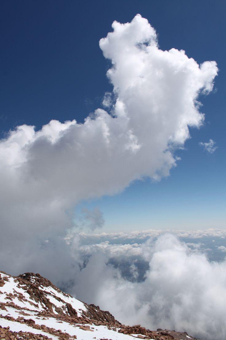Op de top van Pikes Peake, ruim boven de boomgrens