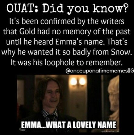 HOLY CRAP I GET IT NOW!I wondered how he remembered because at first it seemed like he didn't. Well played OUAT writers, well played.