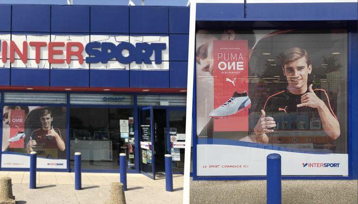 Projet de décoration vitrine pour les magasins Inter sport. Pour cette campagne publicitaire pour la marque Puma, des adhésifs micros perforés ont été posés sur les vitrines du magasin. L'habillage vitrine vous aide à optimiser votre communication. De plus, la décoration vitrine vous permet de mettre en avant un produit. ! Plus d'infos en cliquant sur le lien suivant : www.sogefab.fr/habillage-vitrine #Sogéfab #Décoration #Habillage #Vitrine #Décorationvitrine #Habillagevitrine #Puma…