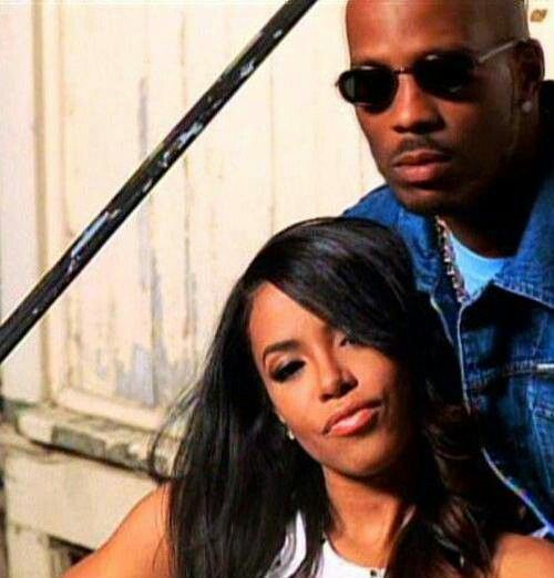 """Aaliyah & DMX on the set of the video for """"Back In One Piece"""""""