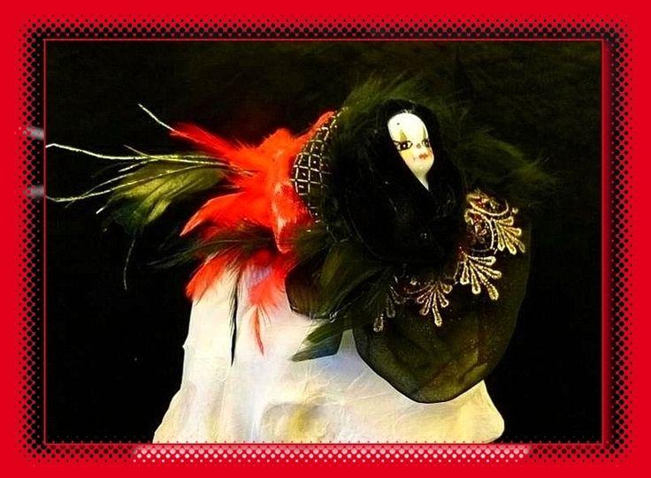 "Headpeace""Karneval in Venedig"",Fascinator,Karneval von blacklight auf DaWanda.com"