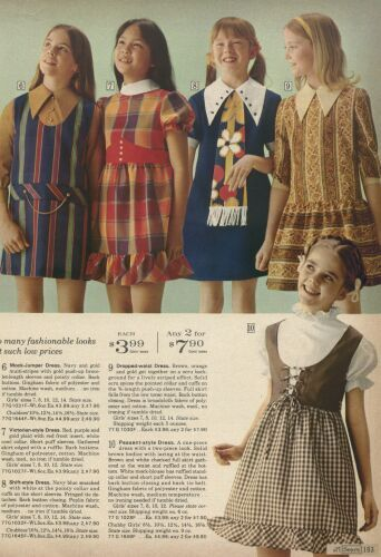 1971 Sears Catalog - girls dresses. I remember clothes like these for school!