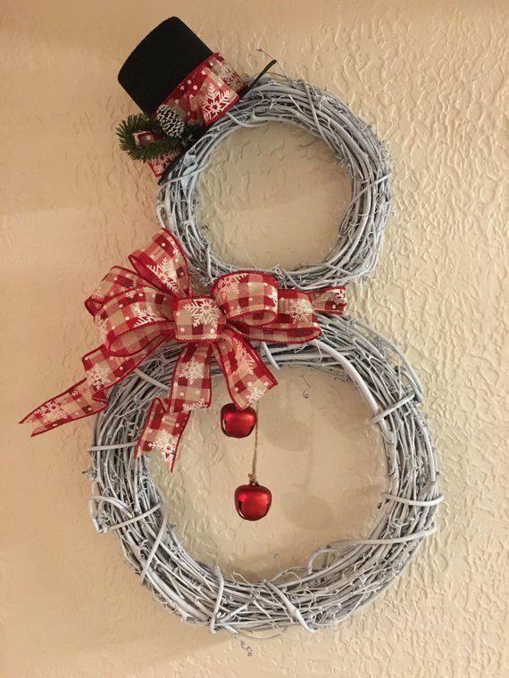Snowman Wreath White Grapevine Celebrations Christmas Wreaths Snowman Wreath Wreaths