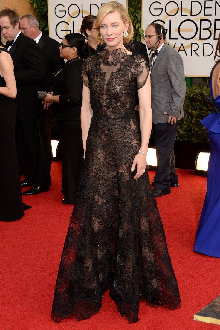 Golden Globes 2014 Best Dressed Celebrities - Golden Globes Best Red-Carpet Looks - ELLE #cateblanchett #armaniprive