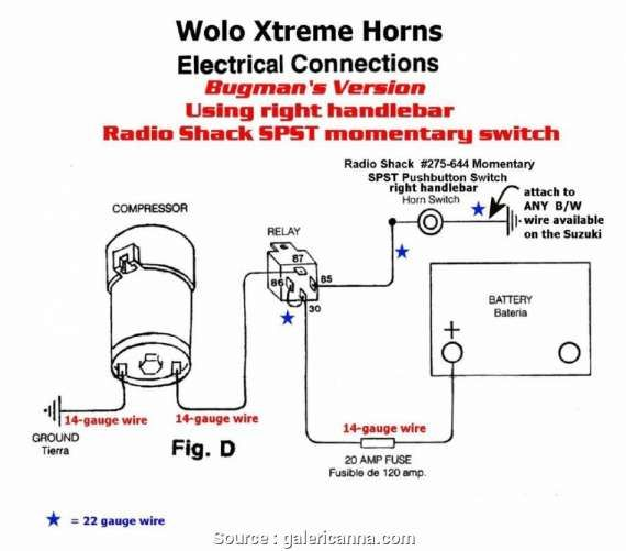 Motorcycle Horn Relay Diagram And Wolo Wiring Diagrams Wiring Diagram In 2020 Horns Car Horn Wire