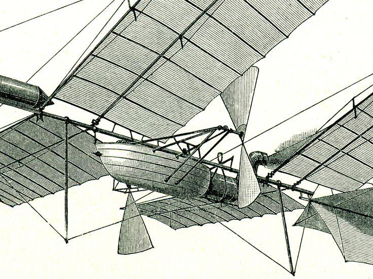 Vzduchoplavba - detail obrazu prvních pokusů o létání