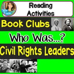 Who was...? Books Civil Rights Leaders includes: Who was Martin Luther King, Jr? Who was Rosa Parks? Who was Sojourner Truth? Who was Harriet Tubman? Who Was Frederick Douglass? Engage students with this zip file set of reading activities that can be used with these civil rights leaders themed biographies in the Who Was...?