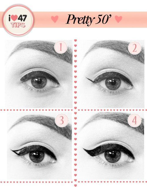 Easy way to apply winged eyeliner. Applying winged eyeliner has always been a task for me. Then i started using this technique, it really wo...