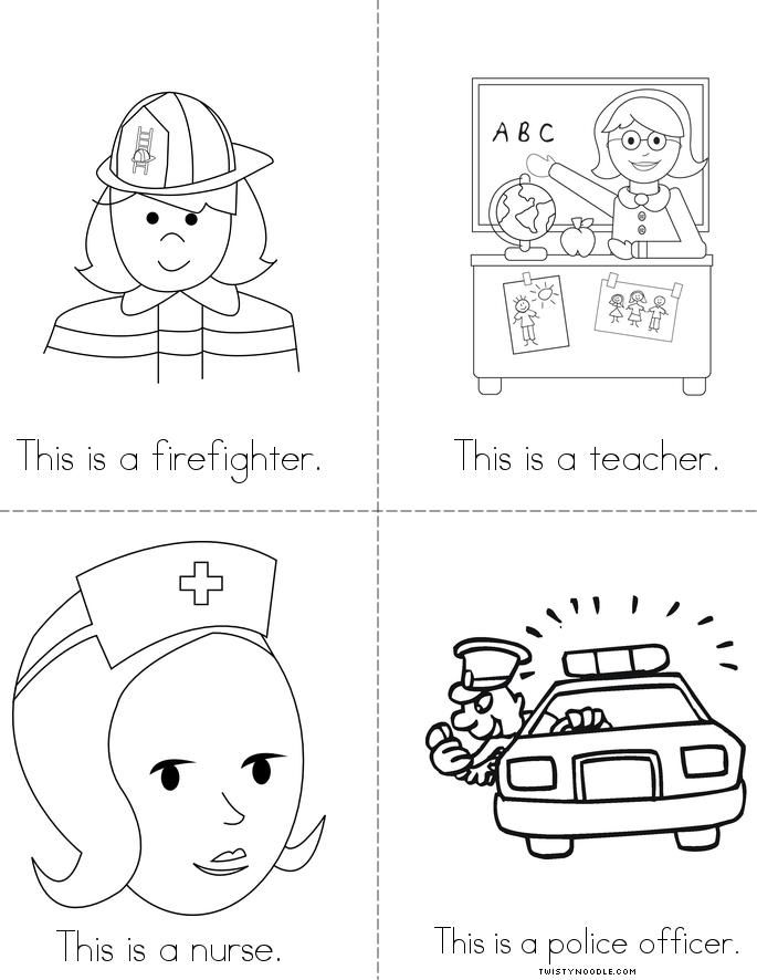 coloring pages lesson plan our community   103 best images about Community helpers on Pinterest