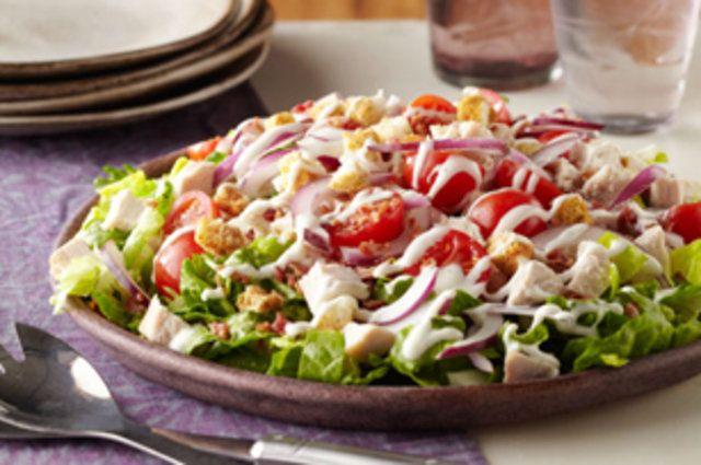 Salada de alface e peru