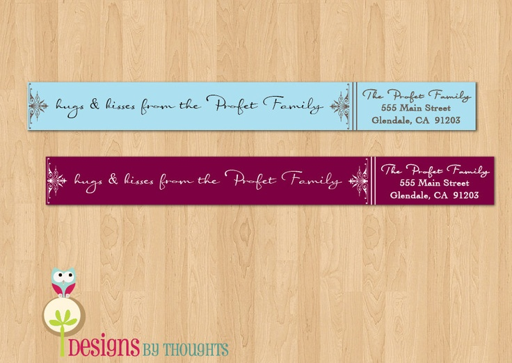 Best Wrap Address Labels Images On   Envelopes