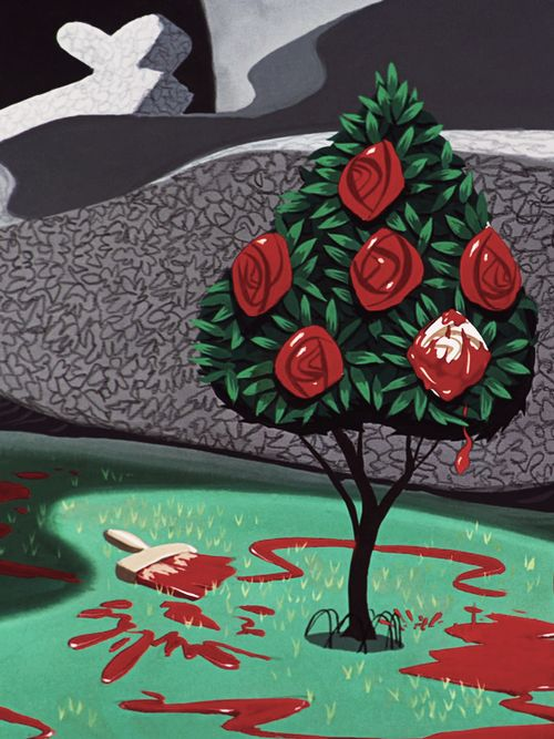 Painting The Roses Red. #aliceinwonderland