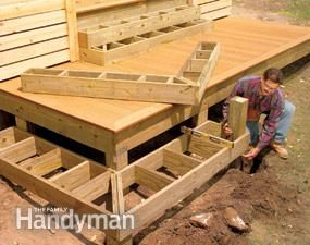 Wrap around steps ... would be fantastic for our deck since our deck would be low to the ground.