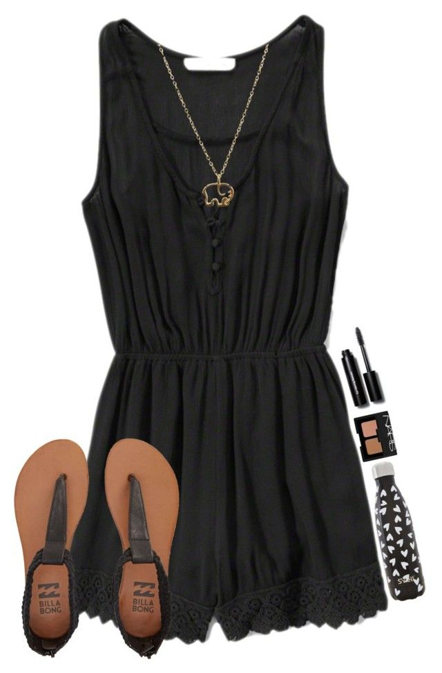 """""""~idk~"""" by simply-natalee ❤ liked on Polyvore featuring Abercrombie & Fitch, Billabong, Bobbi Brown Cosmetics, S'well and NARS Cosmetics"""