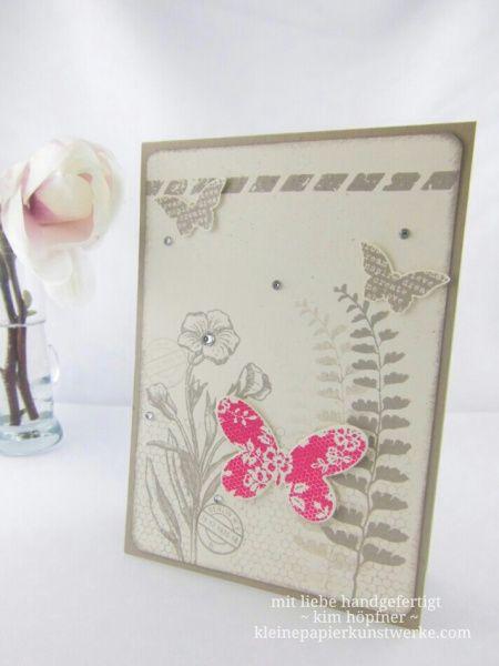 #grußkarte mit dem stempelset #schmetterlingsgruß und #wassermelone von #stampinup #geburtstagskarte #cardmaking #kartenbasteln