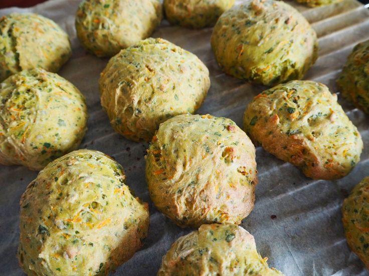 Gulerodsboller med spinat