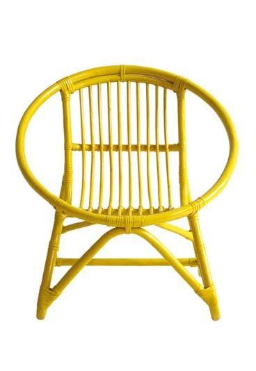 fauteuil roseau en bambou laqu petit pan d co vintage notre s lection r tro pour d corer. Black Bedroom Furniture Sets. Home Design Ideas