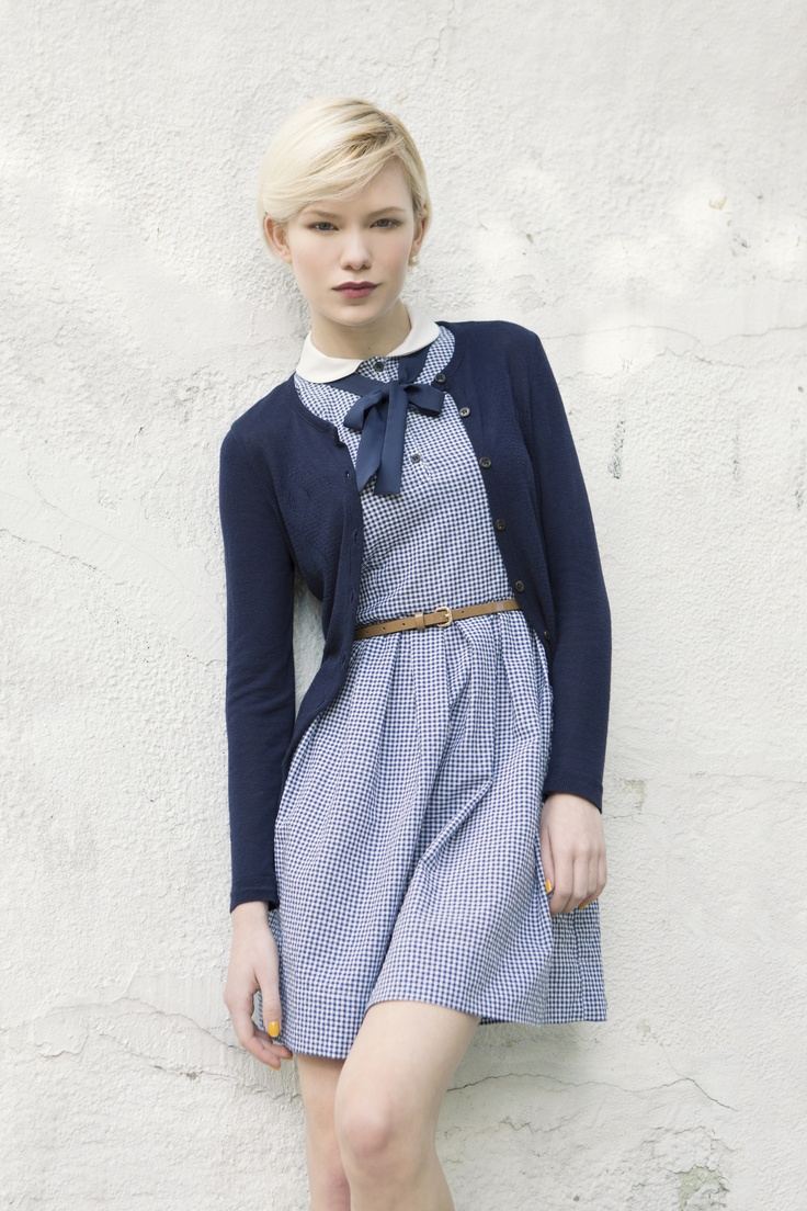 Ronette Blue Gingham · Lucy cardigan · Betina Collection 2013