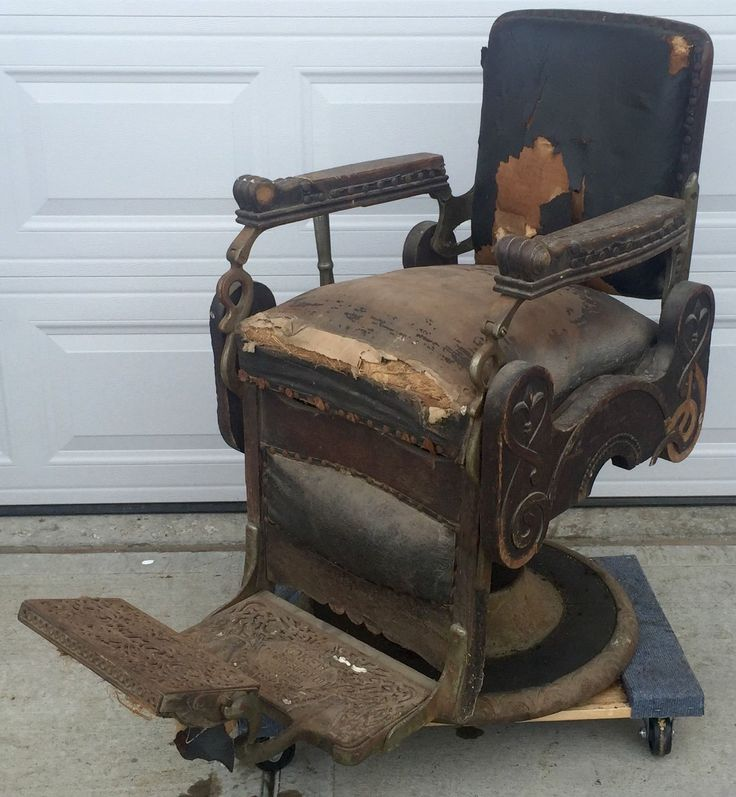 RARE Antique Oak Congress Style Koken Barber Shop Chair 1901 Working  Hydraulics | eBay - 80 Best Barber Chair Images On Pinterest Bow, 1950s And Colors