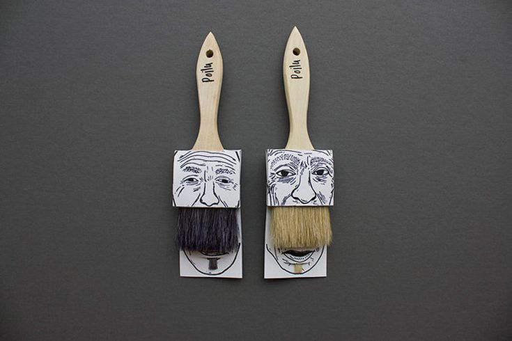 moustache paintbrush packaging by simon laliberté | Thinking about packaging <3 *****