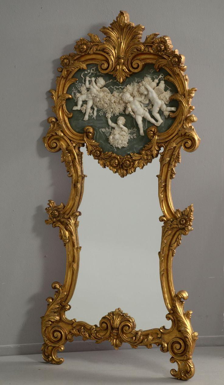 ROCCO FLOOR MIRROR | Mirror in giltwood frame in the rococo style | www.bocadolobo.com #mirrorideas