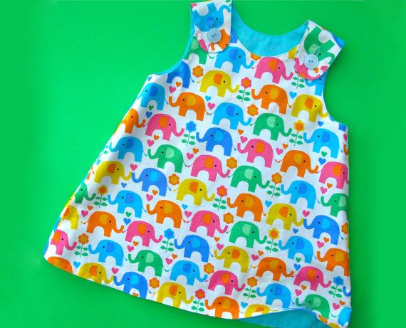 Reversible Baby Dress Pattern - The Perfect A Line Dress Pattern for Baby and Toddler - PDF