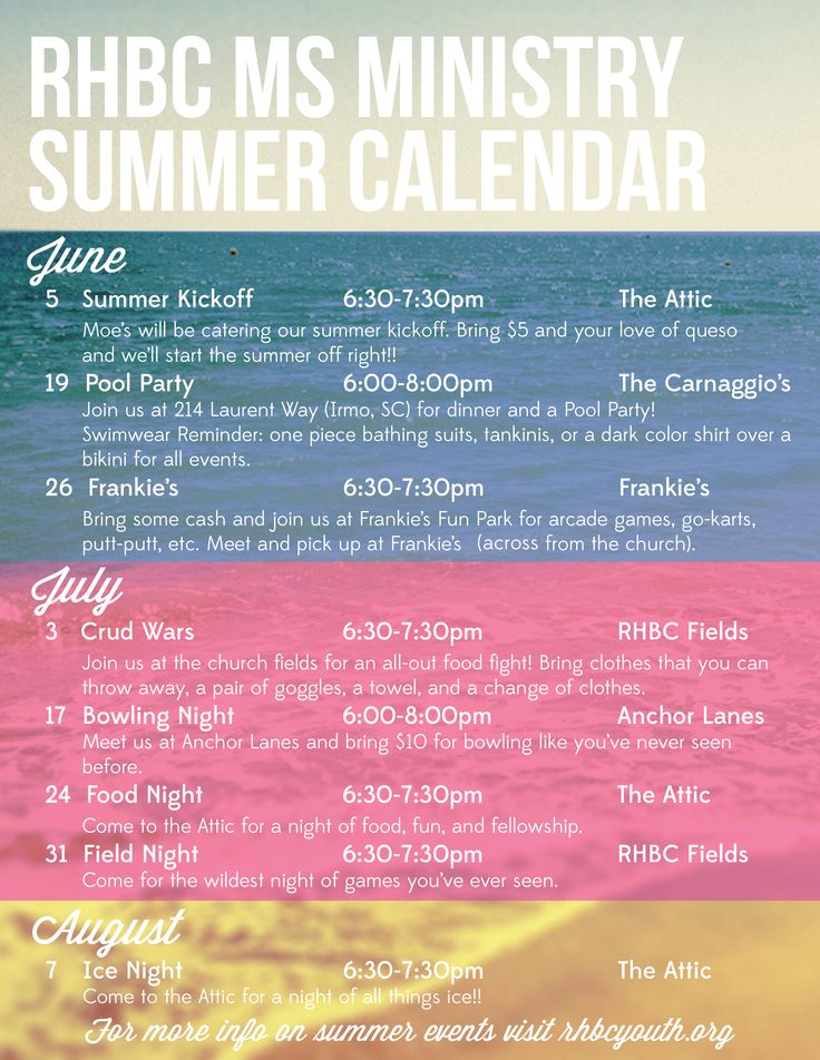 Youth Ministry Calendar Ideas : Best summer calendar ideas on pinterest preschool