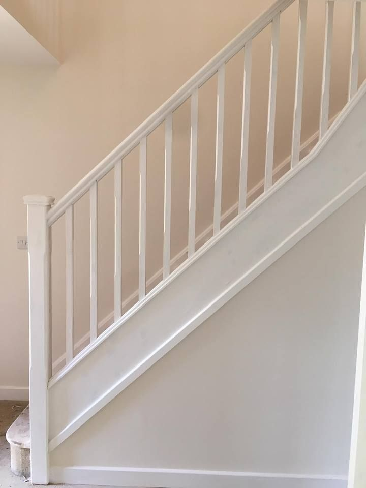 Best White Primed Balustrade Stair Railing Staircase 400 x 300