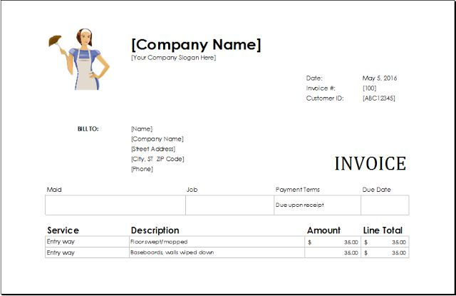 Download Ms Excel Service Invoice Templates. - Download Free Templates