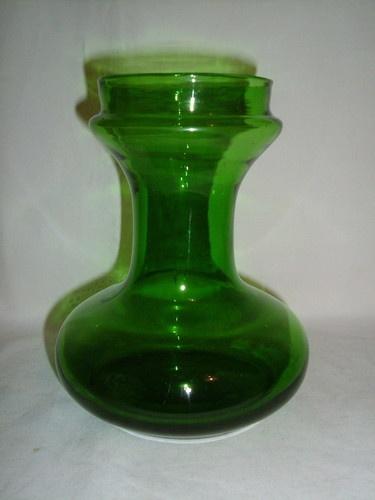 Antique Victorian Green Glass Hyacinth Vase Ebay Hyacinth Vases Vase Bulb Vase Glass