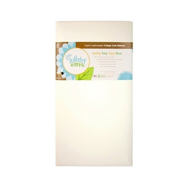 Lullaby Earth Super Lightweight 2-Stage Crib Mattress, Beige ($200) ❤ liked on Polyvore featuring home, children's room, children's furniture, nursery furniture and beige